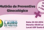 Lauro de Freitas: Mutirão ginecológico acontece neste sábado na USB Santa Bárbara, Itinga